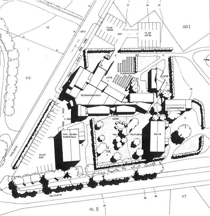 Site plan, Mikaelintalo Parish Centre