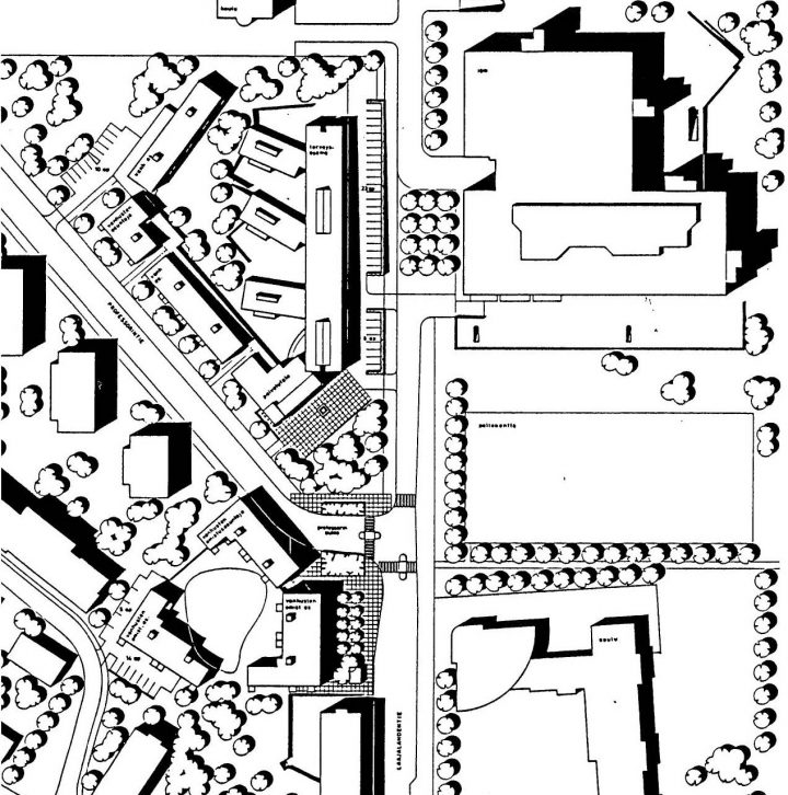 Site plan, Munkkiniemi Service Centre