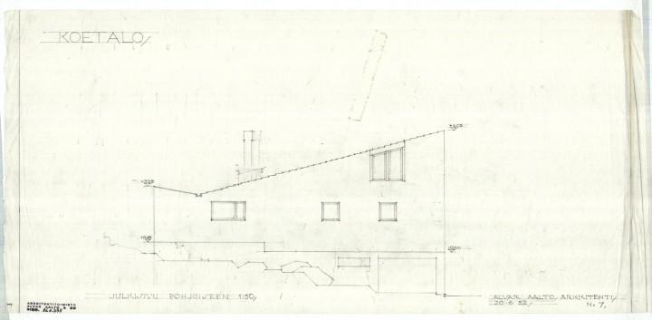 North elevation, Muuratsalo Experimental House