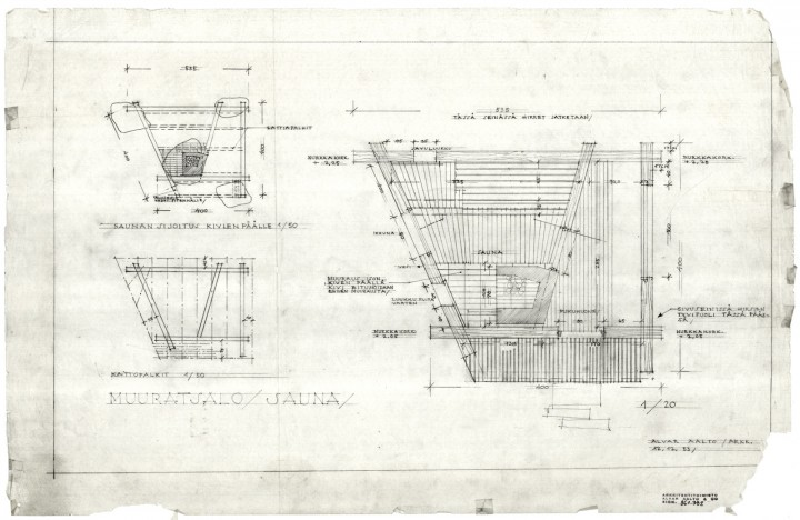 Sauna, floor plan, Muuratsalo Experimental House