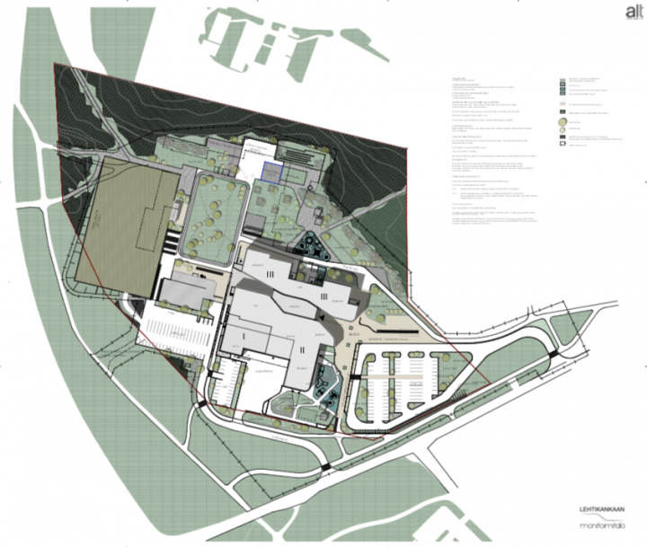 The site plan, Lehtikangas School and Community Centre
