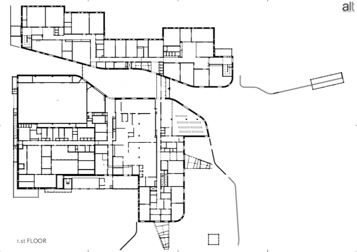 The floor plan, Lehtikangas School and Community Centre