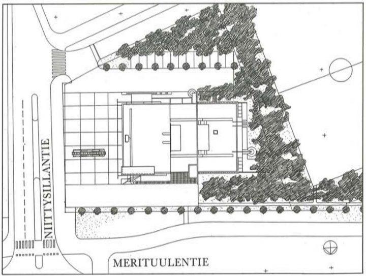 Site plan, Niittykumpu Fire Station