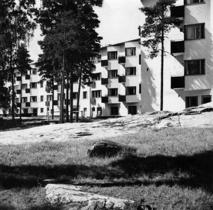 Väinölankatu 17 in the 1940s, Olympic Village
