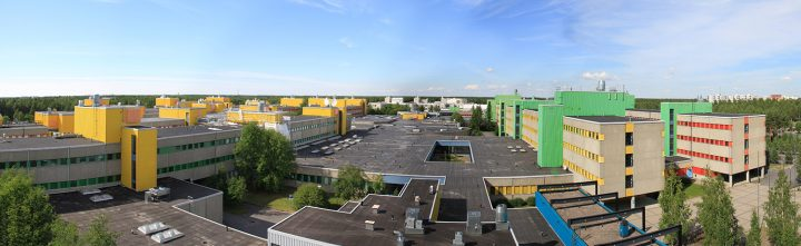 Aerial view, University of Oulu Linnanmaa Campus