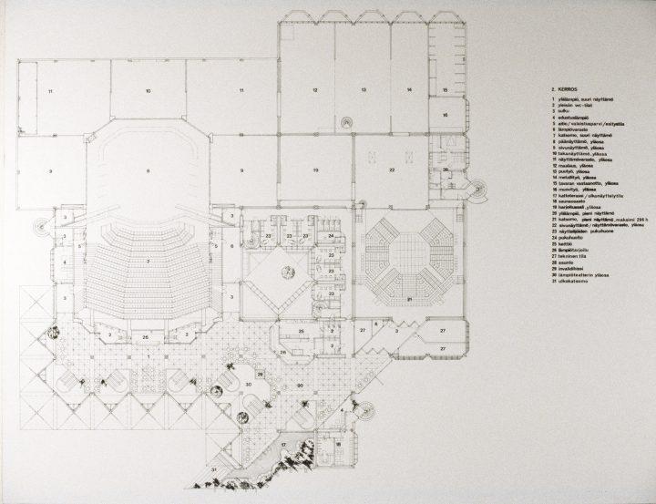 Floorplan of the first floor, Lahti City Theatre