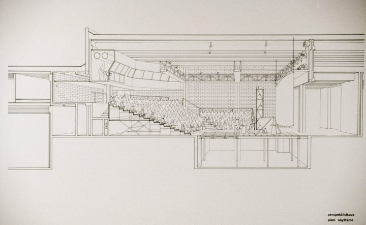Elevation of the small stage, Lahti City Theatre