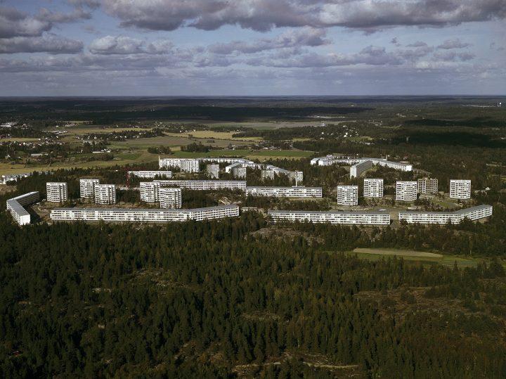 Aerial view from 1964, Pihlajamäki Residential Area