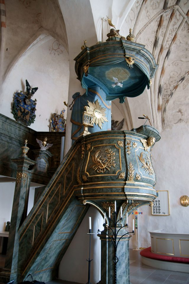 Pulpit from the 18th century, Porvoo Cathedral