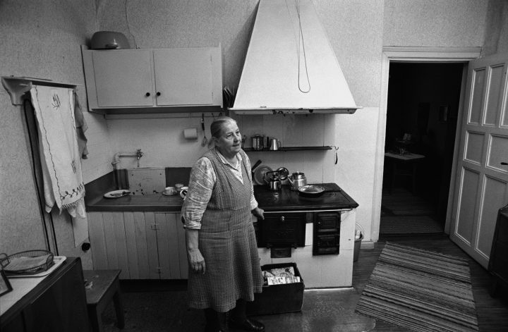 An original kitchen interior in 1973, Puu-Vallila Wooden House District