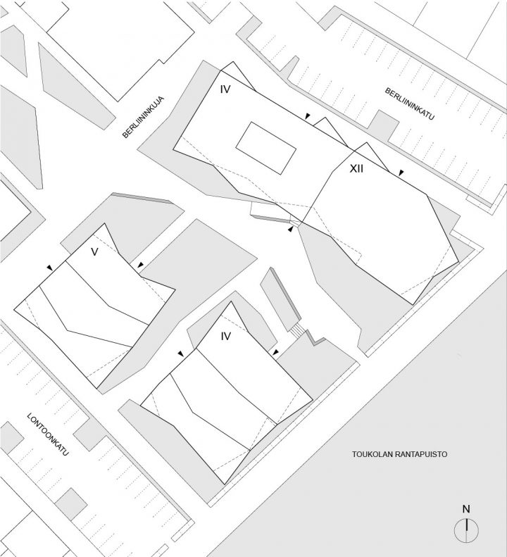 Site plan, Toukoranta Housing
