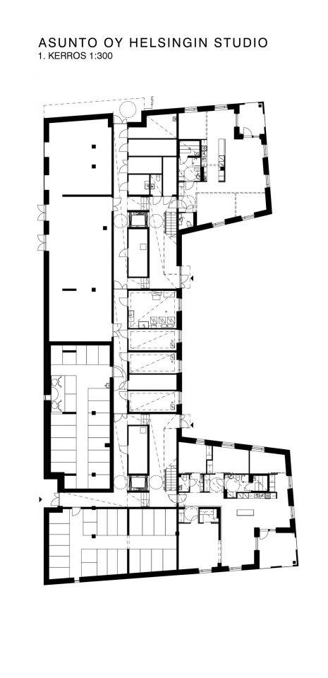 Ground floor, Helsingin Studio Housing