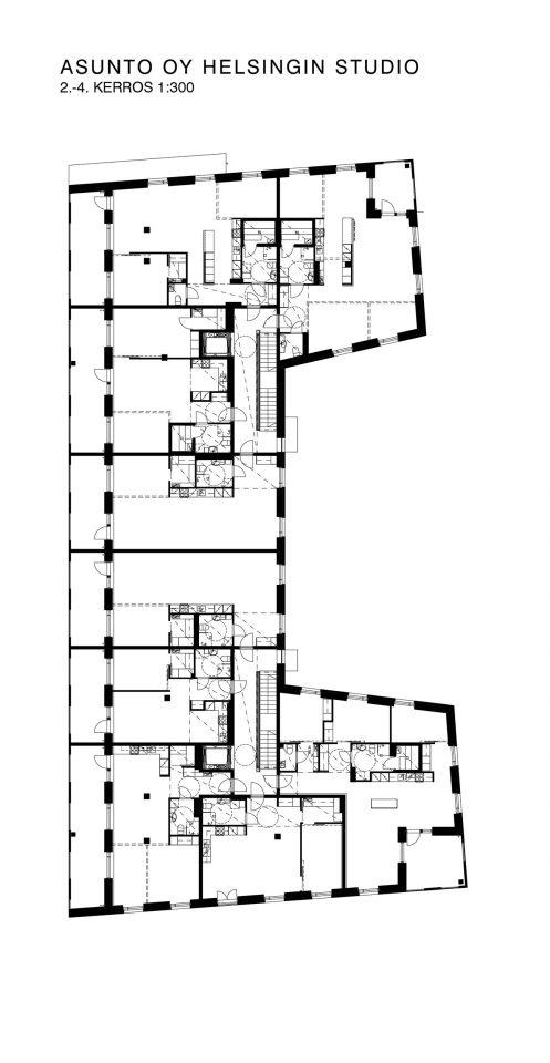 1st, 2nd & 3rd floor, Helsingin Studio Housing