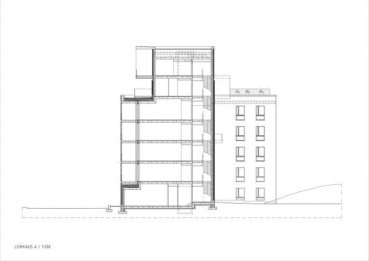 Section, Helsingin Studio Housing