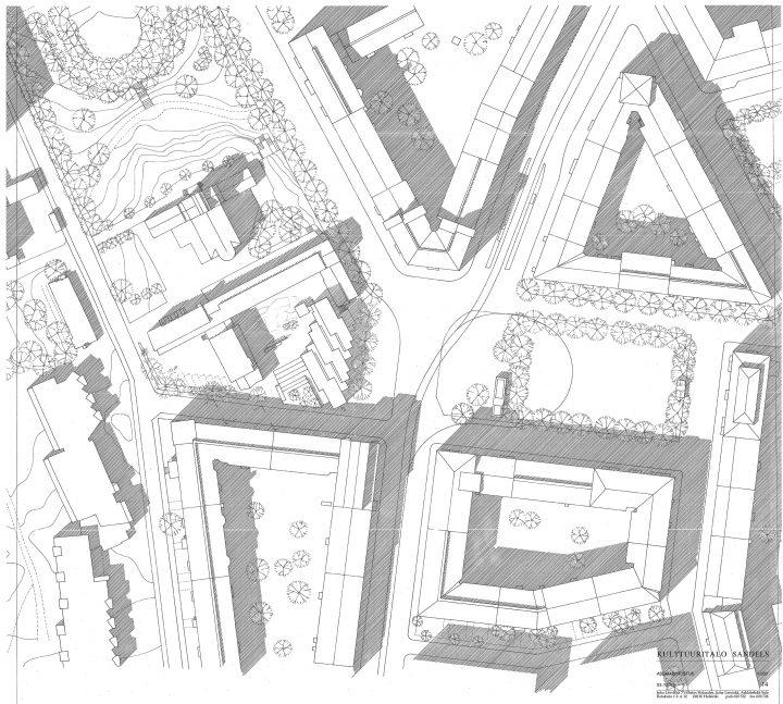 Site plan, Sandels Cultural Centre