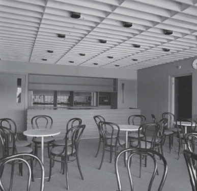 The original interior in the cafe, Satakunta Museum