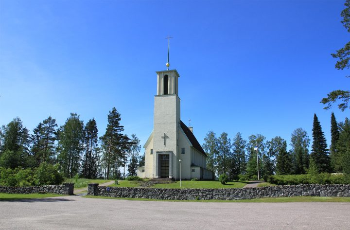 View from the east, Simpele Church