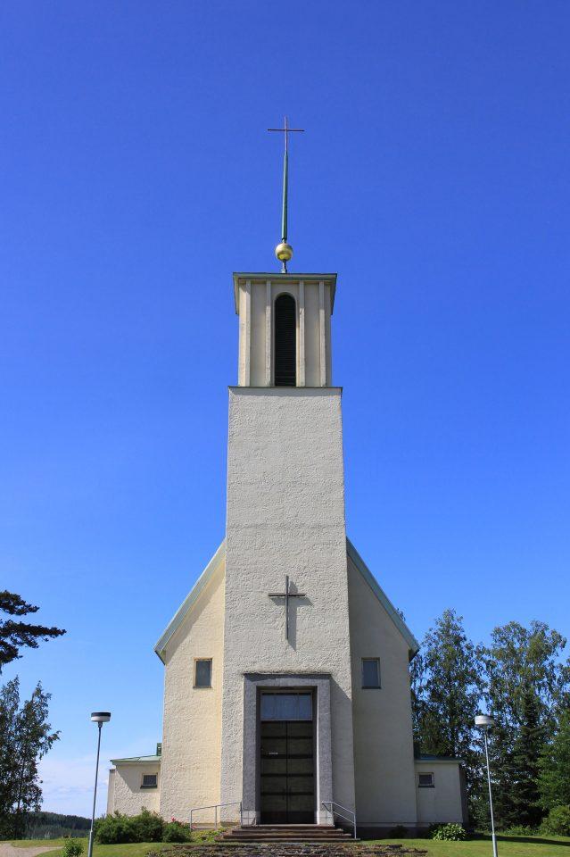 Main entrance, Simpele Church