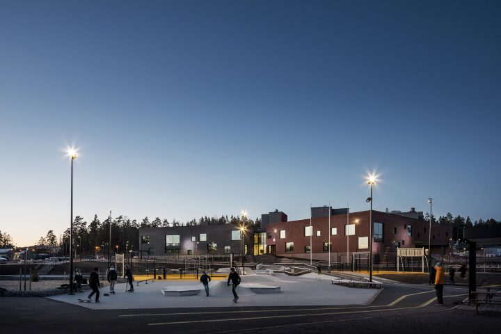 View from the south, Sipoonlahti School Extension