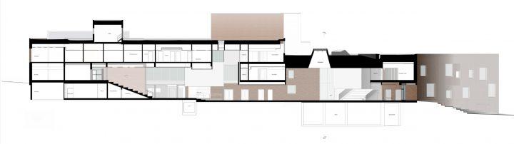 Section plan, Sipoonlahti School Extension