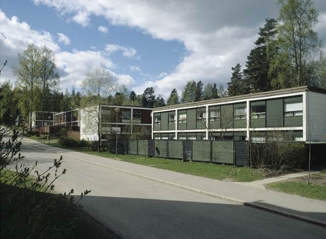 Street view from one of the housing blocks, Kortepohja Residential Area