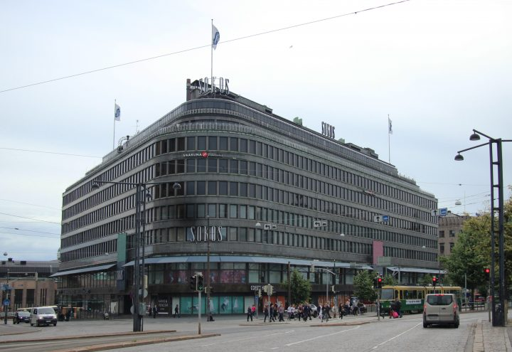 The façade to Mannerheimintie , Sokos Department Store