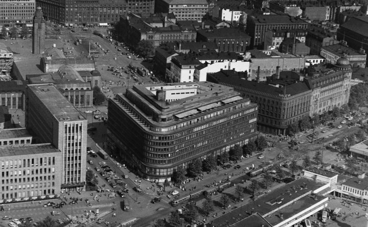 The aerial view in 1952, Sokos Department Store