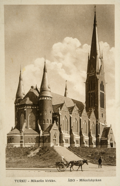 View from the south in the 1900s, St. Michael Church