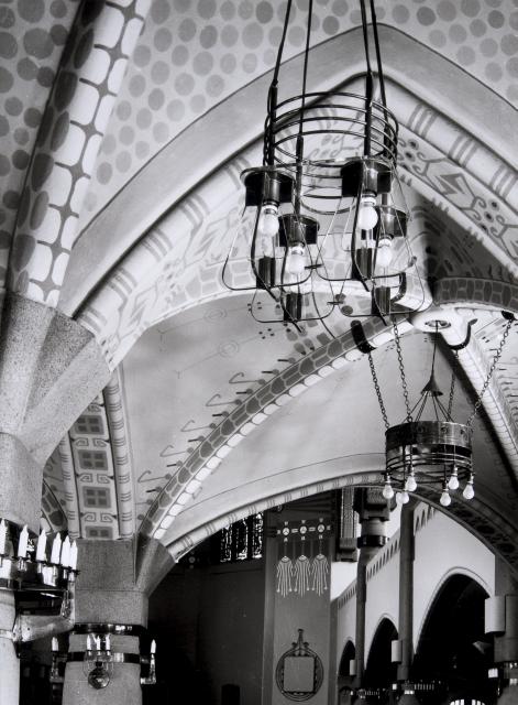 Detail of the Art Nouveau interior, St. Michael Church