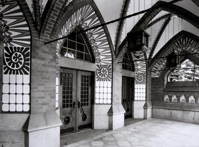 Art Nouveau style main entrance, St. Michael Church