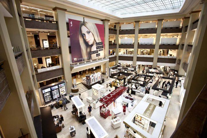 Original department store atrium., Stockmann Department Store
