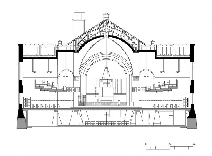 Cross section, St Paul's Church