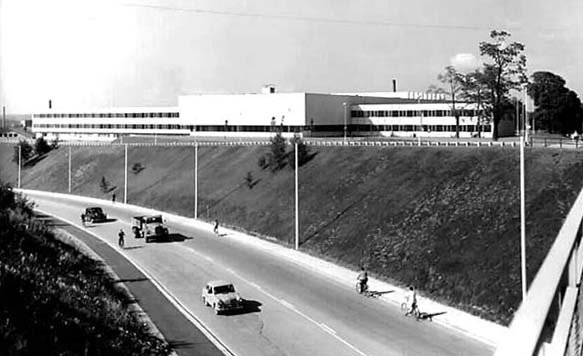 The building photographed from the northeast in 1960, Tampere University Main Building