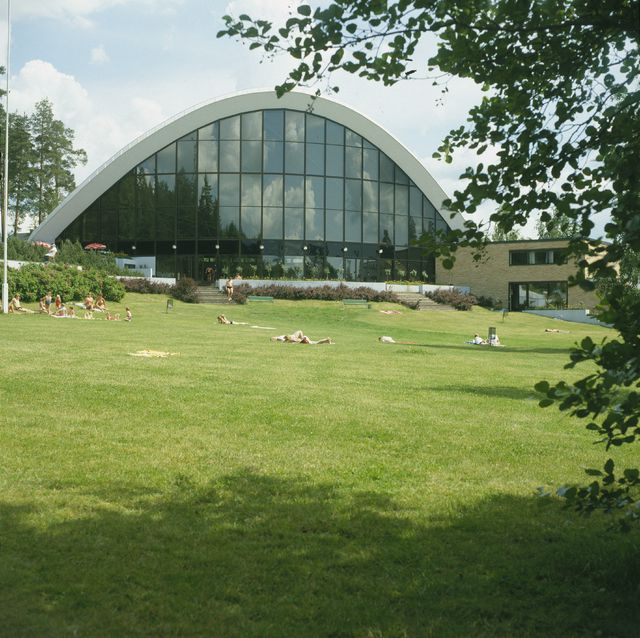 View from the west, Kouvola Sports Park Swimming Hall