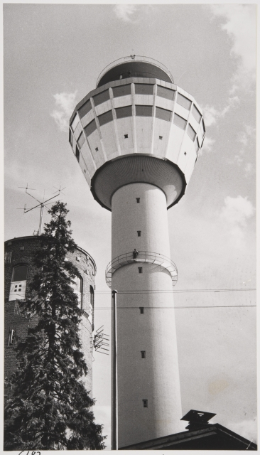 Old and new tower in 1963, Puijo Tower