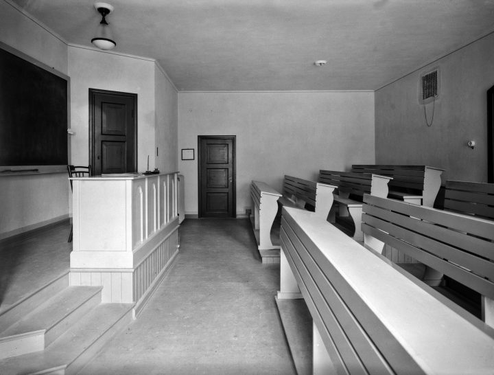 Classroom photographed in 1926, House of Learned Societies