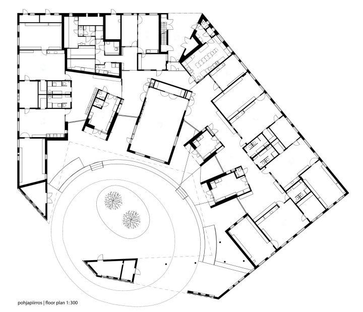Floor plan, Tillinmäki Daycare Centre