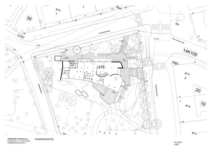 Renovation site plan, Töölö Library