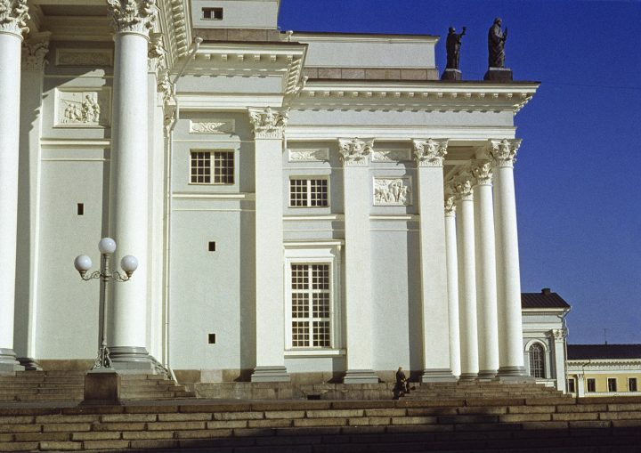Detail of the western façade, Helsinki Cathedral