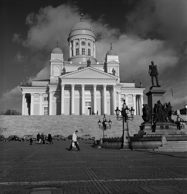 Helsinki Cathedral photographed from the the square Senaatintori, Helsinki Cathedral