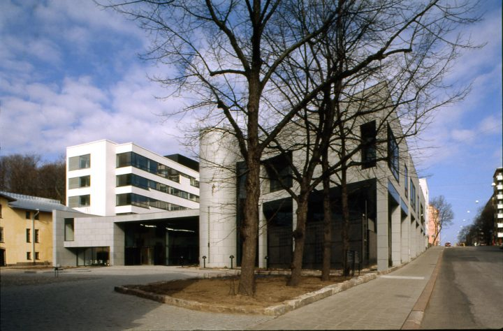 Street façade photographed from Sairashuoneenkatu in 1997, Turku Courthouse