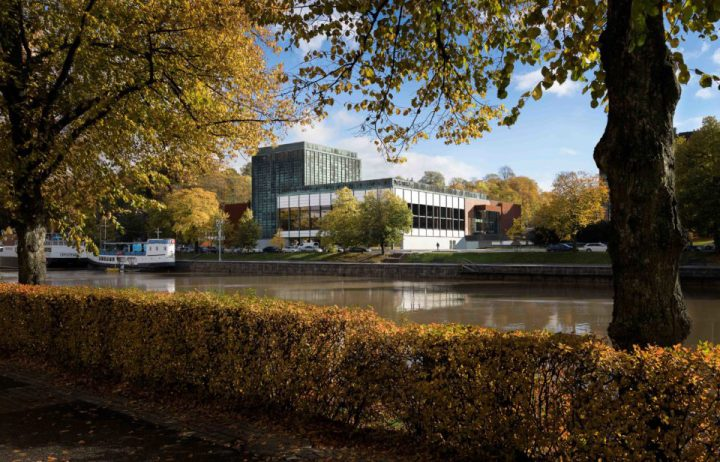View from the opposite side of the river Aura, Turku City Theatre