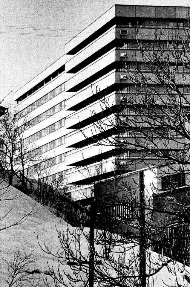 View from the east, Turku University Hospital, U Building
