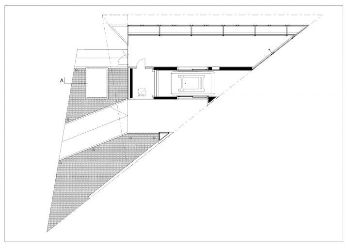 Upper station floor plan, Kakola Funicular Stations