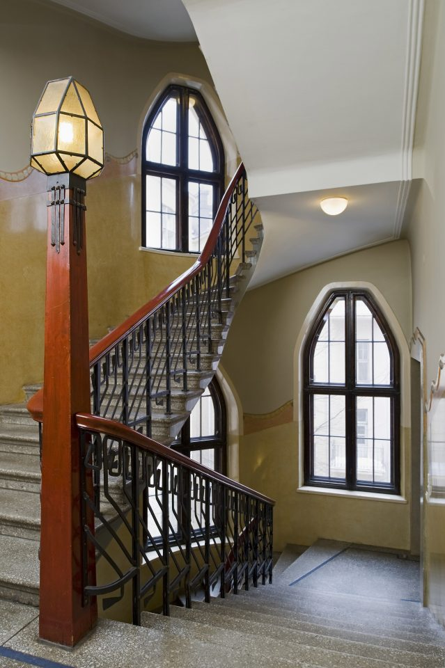 A staircase with the originals decorations, Uudenmaankatu 5 Art Nouveau Building