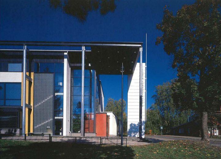 Entrance canopy, Vihti Main Library