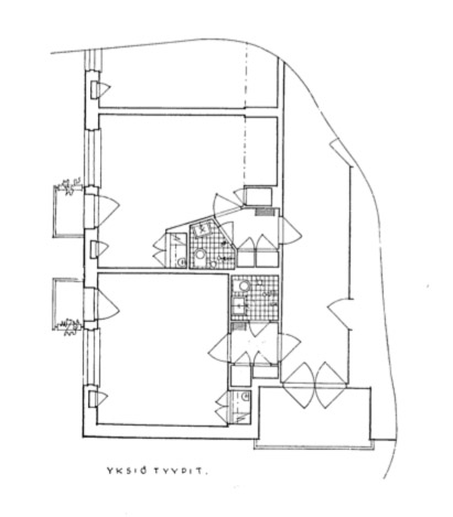 Studio flat, Women's Co-housing Asuntoyhteistalo