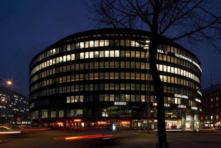 The buildings impressive night time illumination, Circle House