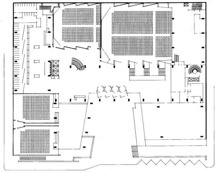 Ground floor plan, Helsinki University Porthania Building