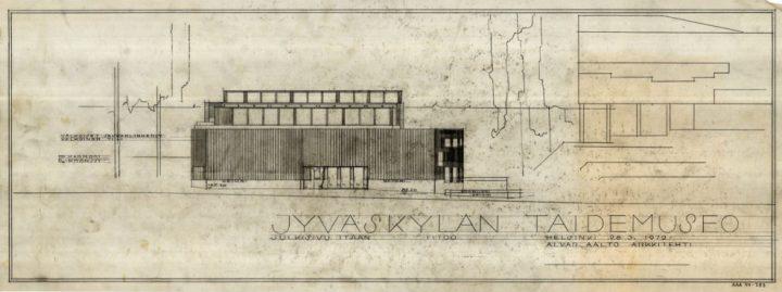 East elevation, Alvar Aalto Museum